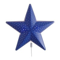 Ikea SMILA STJARNA Lampu dinding/lampu tidur berbentuk bintang,biru