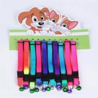 Kalung Anjing Kecil Dog Collar Bell Rainbow