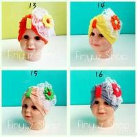 Jual turban renda bunga/turban baby/turban lucu Murah