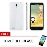 Crystal Case for Lenovo A859 - Clear Hardcase +  Gratis Tempered Glass
