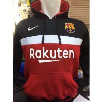 Sweater Hoodie Barca B-621 Barcelona Liga Spanyol BBVA Kombinasi Merah