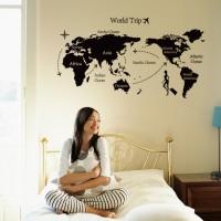 WALL STICKER/WALL STIKER TRANS 60X90-JM7225-WORLD TRIP