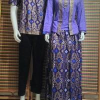 baju couple muslim/couple gamis BSG300 ungu