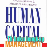 Buku Human Capital Management Angela Baron