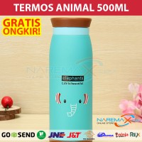 Termos Air Karakter Animal 500ml Murah Gambar Gajah / Elephant