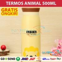 Termos Air Karakter Animal 500ml Murah Gambar Singa / Lion