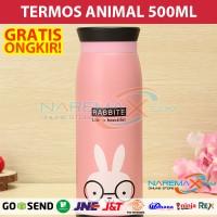 Termos Air Karakter Animal 500ml Murah Gambar Kelinci / Rabbit