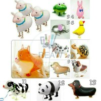 Balon Foil Air Walker / Airwalker Animal / Hewan / Binatang Lucu