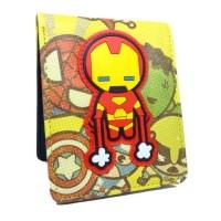 Dompet Iron Man Karakter Marvel Avengers Dc Kulit Anak Laki Cowok