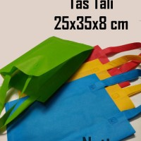 Jual (25x35x8 cm) Tas Kain / Goodie Bag / Spunbond / goody polos Murah