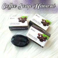 Jual COFFEE SOAP HANASUI / SABUN KOPI DGN SCRUB BPOM Murah