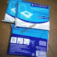 HYGIENEX Disposable Paper Toilet Seat Cover - Alas Dudukan Toilet