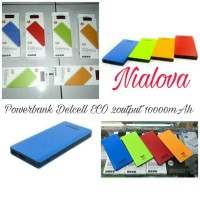 Jual Powerbank Delcell ECO 2output 10000mAh Garansi 1Tahun by Delcell Murah