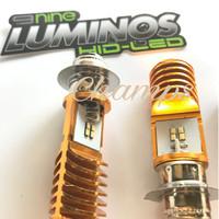 LUMINOS H6 PNP LED Lampu Motor Bebek Matic Hi Low 2 Sisi AC DC NEW