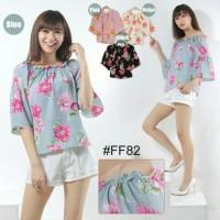 blouse flow ff 82 (cream, merah,hitam,biru)