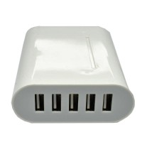 5 Ports USB Charger Travel Adapter 40W 8A .EU Plug.
