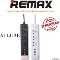 Jual Remax Smart Power Strip Steker EU Colokan 4 USB Port Better Xiaomi Murah