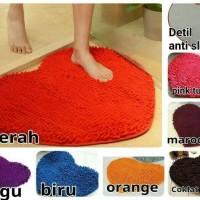 Jual Keset cendol LOVE microfiber anti slip - gufi shop Murah
