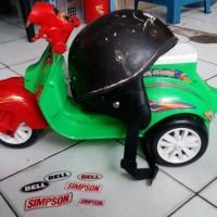 Helm Chip Cip Warkop DKI Bogo Jadul Ori Daleman Tali List Baru 345