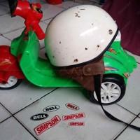 Helm Chip Cip Warkop DKI Bogo Jadul Ori Daleman Tali List Baru 351