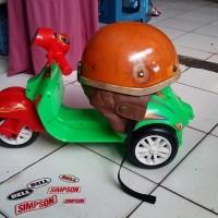 Helm Chip Cip Warkop DKI Bogo Jadul Ori Daleman Tali List Baru 346