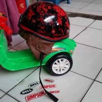 Helm Chip Cip Warkop DKI Bogo Jadul Ori Daleman Tali List Baru 348