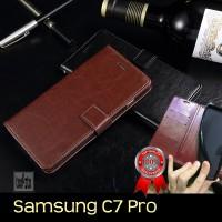 Samsung Galaxy C7 PRO | C7 Leather Case Retro Flipcase Luxury Wallet
