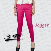 Joger 3R: Sporty jogger bahan katun stretch: Sizes from M to Big XXXL