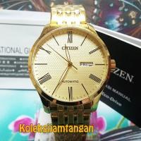 JAM TANGAN PRIA CITIZEN NH8352-53P GOLD ORIGINAL GARANSI RESMI
