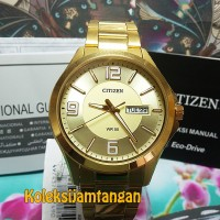 JAM TANGAN PRIA CITIZEN BF2003-50P GOLD ORIGINAL MURAH GARANSI RESMI