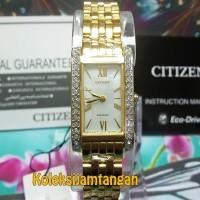 JAM TANGAN WANITA CITIZEN EX1472-81D GOLD ORIGINAL GARANSI RESMI