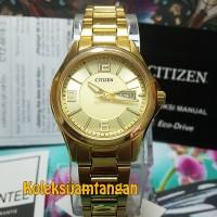 JAM TANGAN WANITA CITIZEN EQ0593-51P GOLD ORIGINAL MURAH