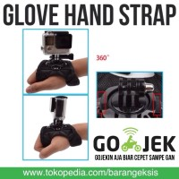 Jual Action Cam 360 Glove Hand Strap for SJCAM / GoPro Series / Xiaomi Yi Murah
