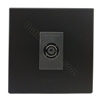 Outlet TV Socket TV Panasonic Style Black Series