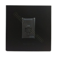 Outlet Data Socket Data Panasonic Style Black