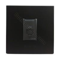 Outlet Data Socket Data Panasonic Style Black