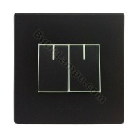 Saklar Seri Hotel Saklar Double Panasonic Style Black Series
