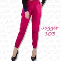 Jogger 103: Celana joger u/ wanita tinggi ~170 cm: Jumbo Size ready