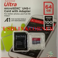 Jual SanDisk Ultra Micro SD UHS-I A1 64GB 100MBps Murah