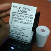 Kertas Thermal 57 x 30 untuk Printer 58 Struk Kasir