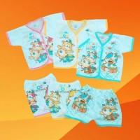 PENDEK Setelan Baju Celana Bayi Baby Baru Lahir Newborn Limited