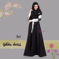 Gamis Valisha Gilda Dress Black - baju gamis wanita busana muslim