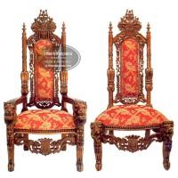 Kursi Raja Lion Kayu Jati, Kursi Makan, Kursi Tamu, Kursi Kerajaan