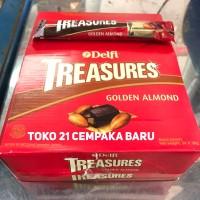 Jual Delfi Treasures Golden Almond 1 PACK isi 24 PCS |Murah Coklat Treasure Murah