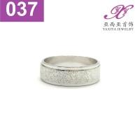 Cincin Kawin polos Couple Emas putih Perhiasan imitasi Yaxiya 037
