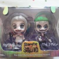 Jual Hot Toys Cosbaby Suicide Squad Harley Quinn Joker Set BIB ORI Murah