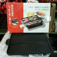 Jual pangangan teflon double pan grill yakiniku ukiran 37cm26cm Murah