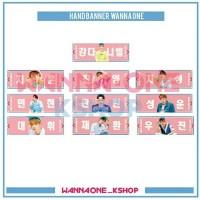 Handbanner slogan wanna one ver. sky /pink