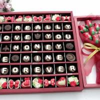 kado coklat praline untuk teman kekasih istri