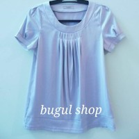 Baju Atasan/Blouse Wanita CLOVIS, bahan satin (preloved/secondhand)